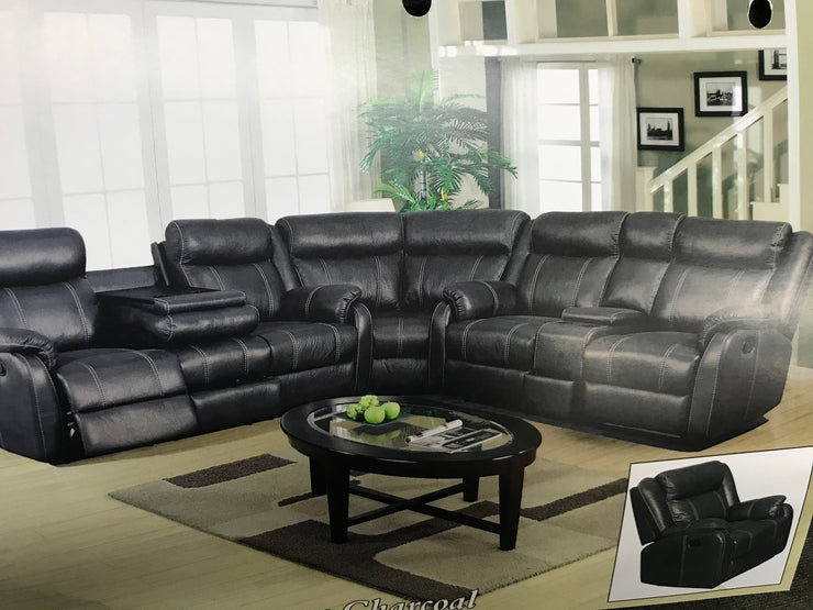 AWFginrum  Gin Rummy Recliner Sectional
