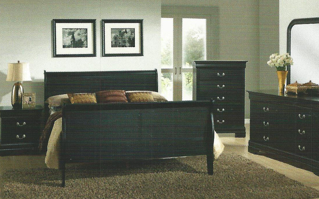 ... BF1245 Louis Philippe Bedroom Set Black