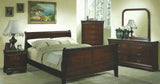 BF1245 Louis Philippe Bedroom Set Cherry or Black