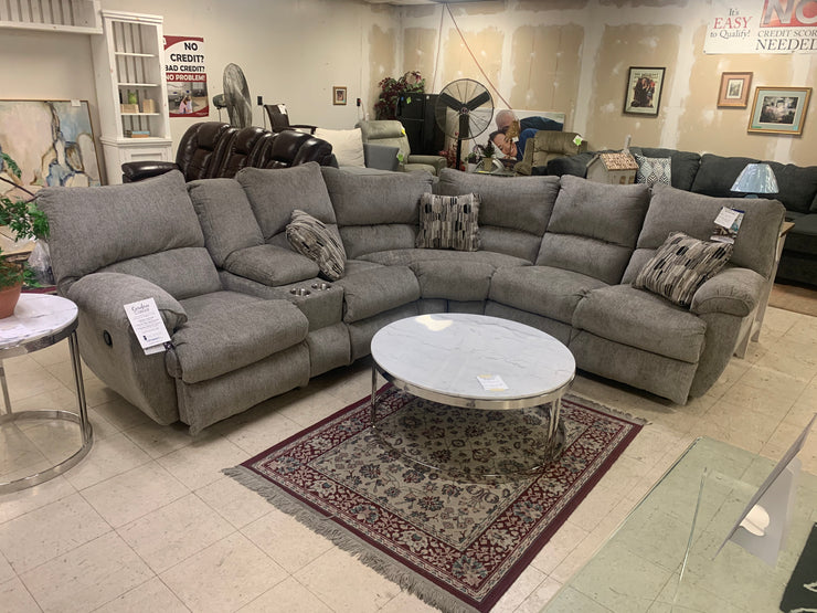 CNLELLIOTPEW  Motion Sectional Sofa Light Gray