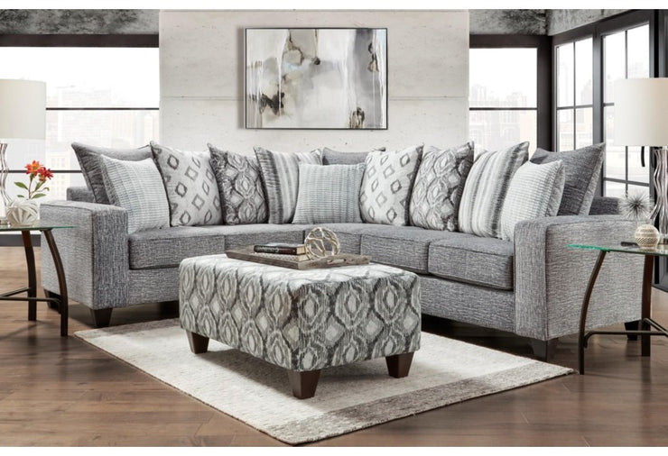 CNL5851 Stonewash Charcoal Sectional