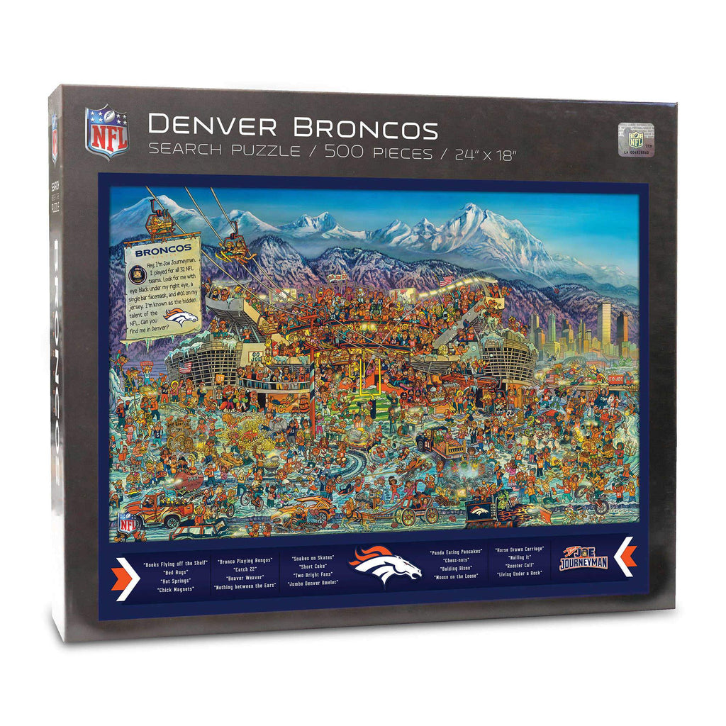 Denver Broncos Find Joe Journeyman 500-piece Puzzle