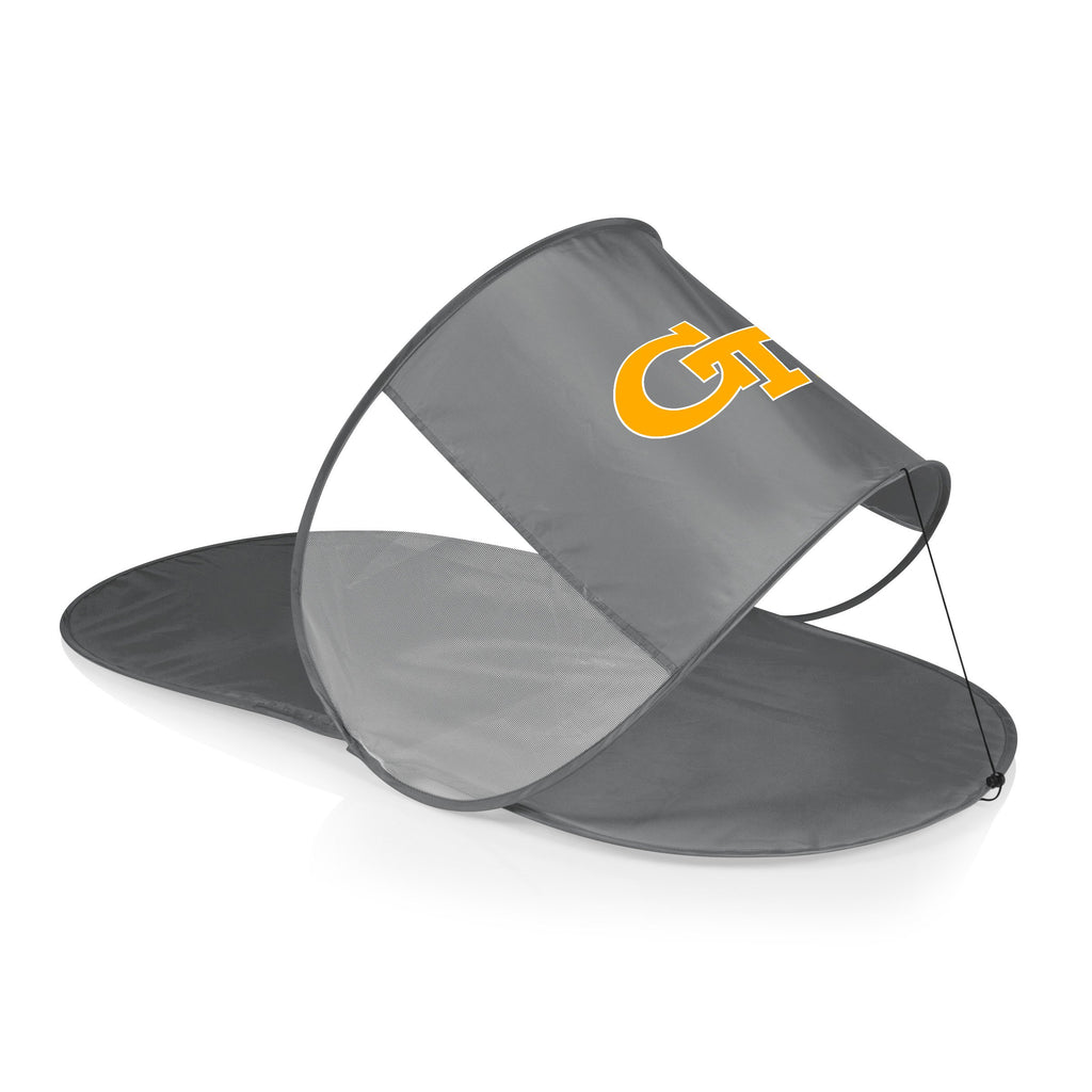 Georgia Tech Yellow Jackets Personal Sun Shelter-Silver Digital Print