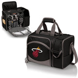 Miami Heat 'Malibu' Picnic Cooler Tote-Black Digital Print