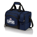 Los Angeles Clippers 'Malibu' Picnic Cooler Tote-Navy Digital Print