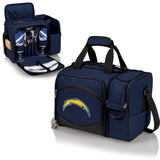 Los Angeles Chargers 'Malibu' Picnic Cooler Tote-Navy Digital Print