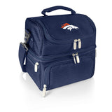 Denver Broncos 'Pranzo' Lunch Tote-Navy Digital Print