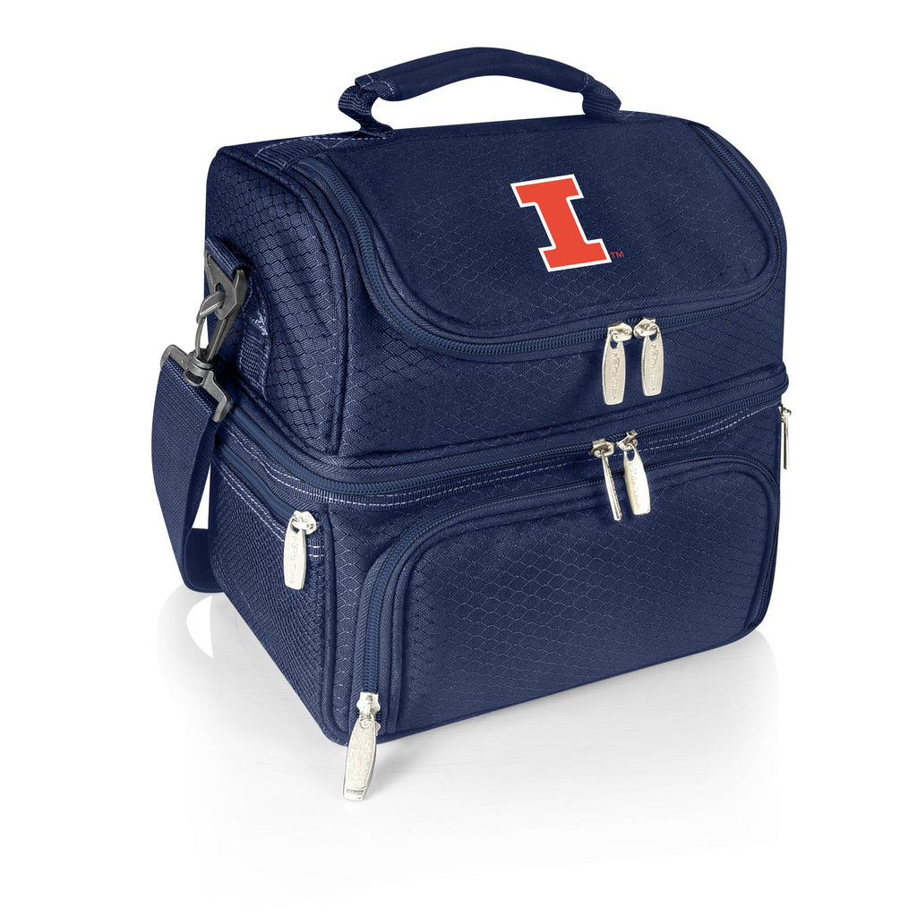 Illinois Fighting Illini 'Pranzo' Lunch Tote-Navy Digital Print
