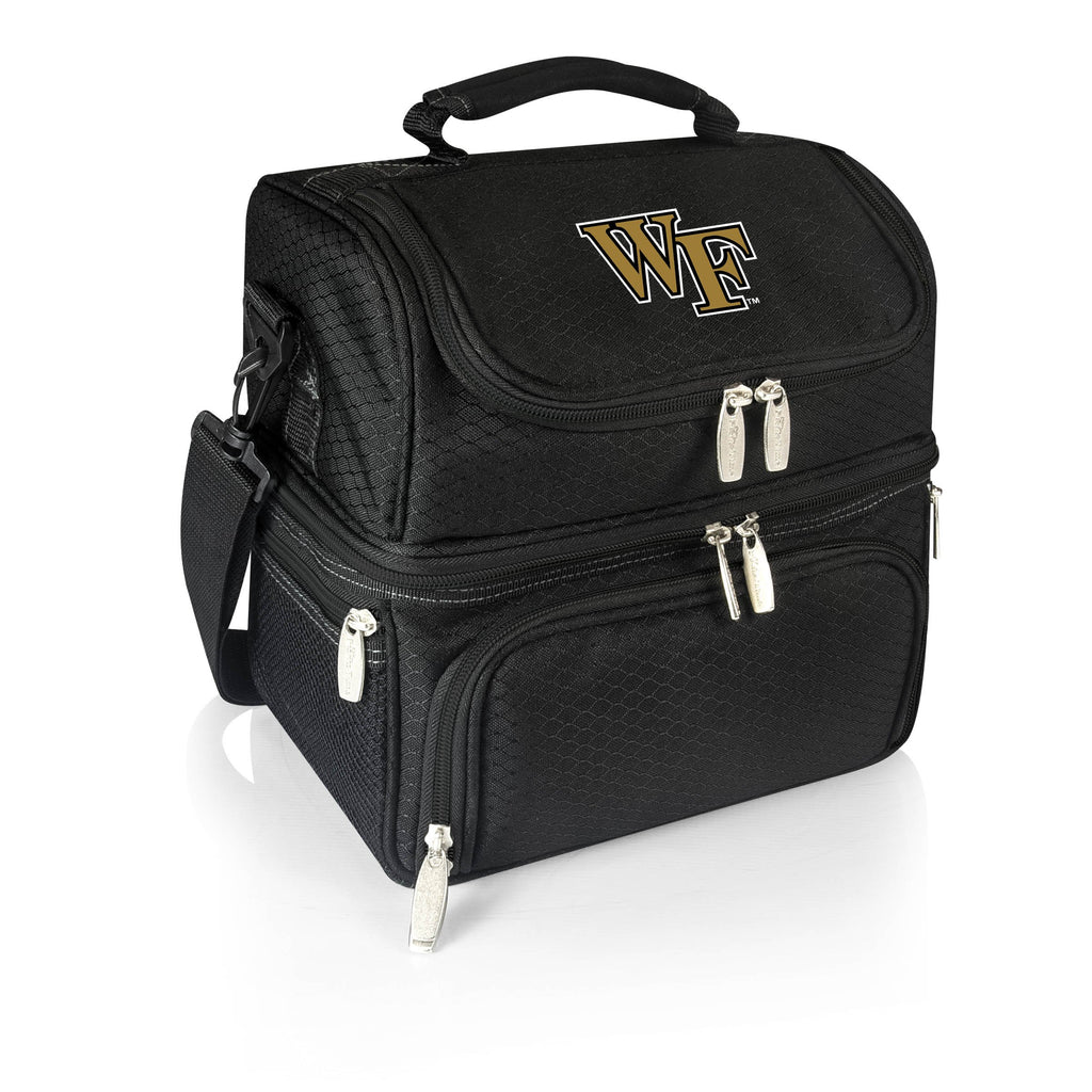 Wake Forest Demon Deacons 'Pranzo' Lunch Tote-Black Digital Print