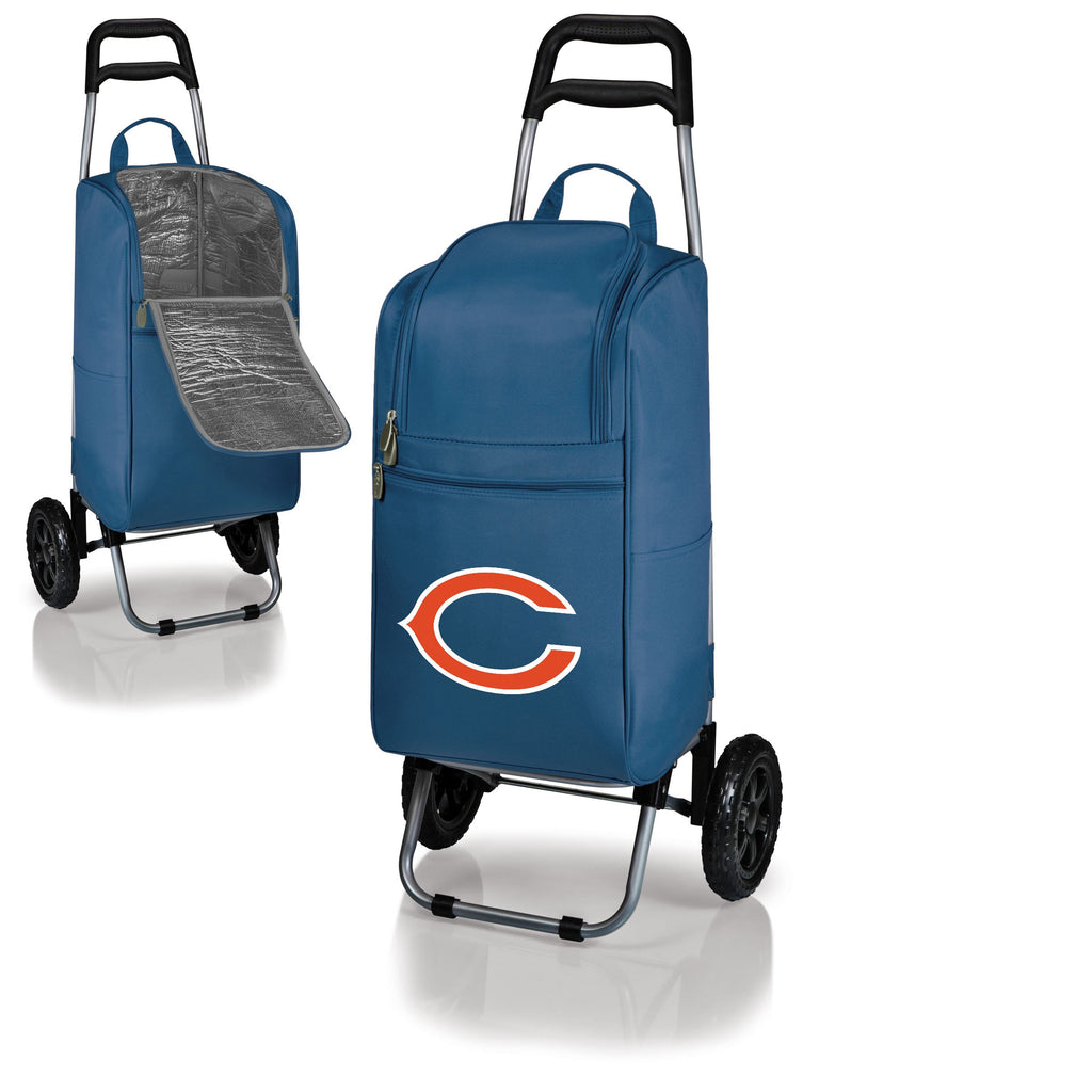 Chicago Bears Cart Cooler with Trolley-Navy Digital Print