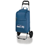 Seattle Seahawks Cart Cooler with Trolley-Navy Digital Print