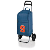 Syracuse Orange Cart Cooler with Trolley-Navy Digital Print
