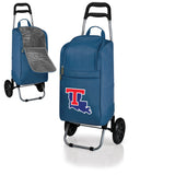 Louisiana Tech Bulldogs Cart Cooler with Trolley-Navy Digital Print