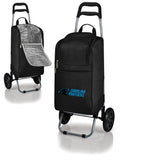 Carolina Panthers Cart Cooler with Trolley-Black Digital Print