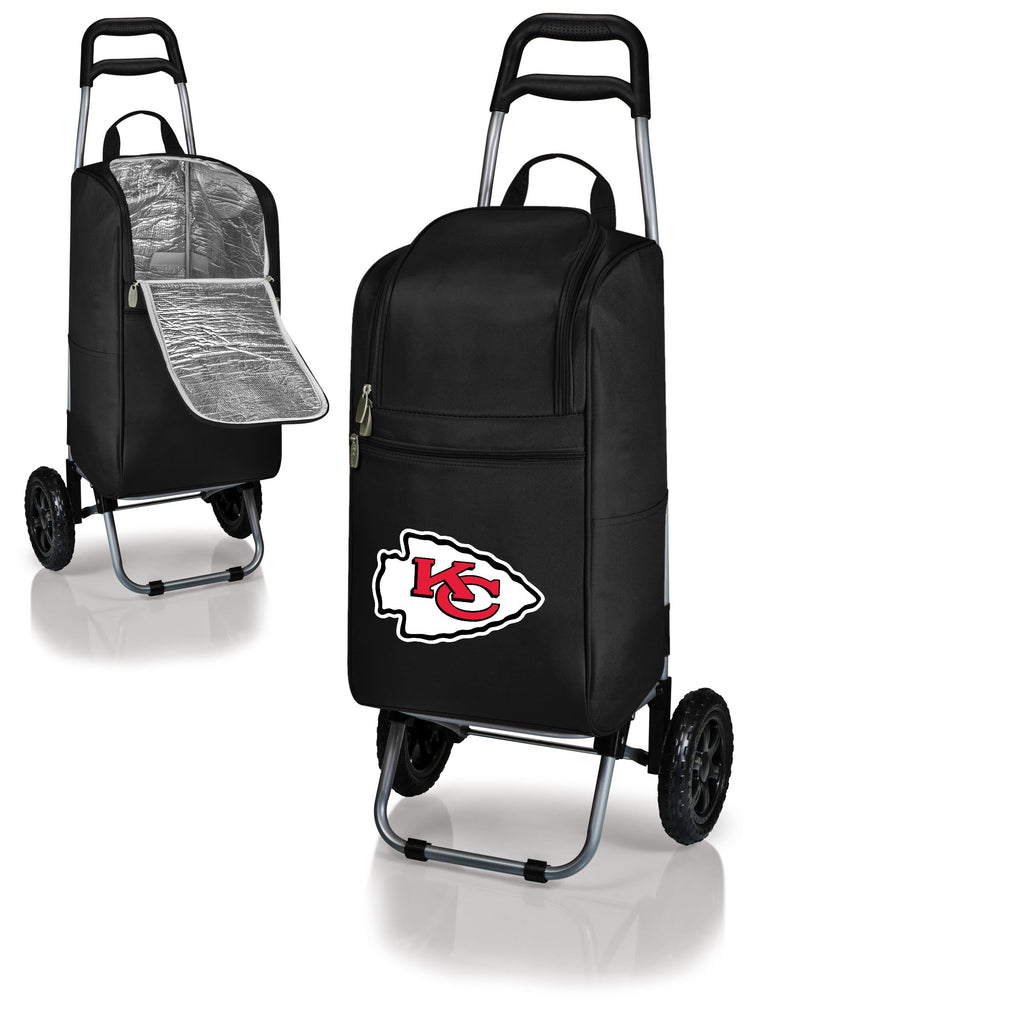 Kansas City Chiefs Cart Cooler with Trolley-Black Digital Print