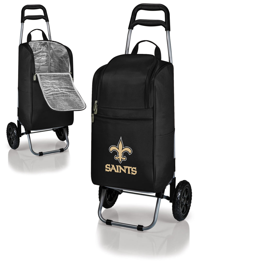 New Orleans Saints Cart Cooler with Trolley-Black Digital Print