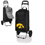 Iowa Hawkeyes Cart Cooler with Trolley-Black Digital Print
