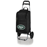 New York Jets Cart Cooler with Trolley-Black Digital Print