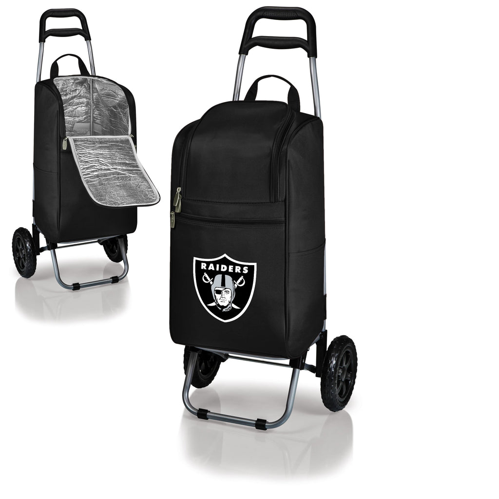 Oakland Raiders Cart Cooler with Trolley-Black Digital Print