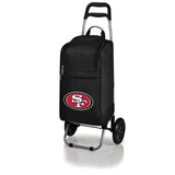 San Francisco 49ers Cart Cooler with Trolley-Black Digital Print