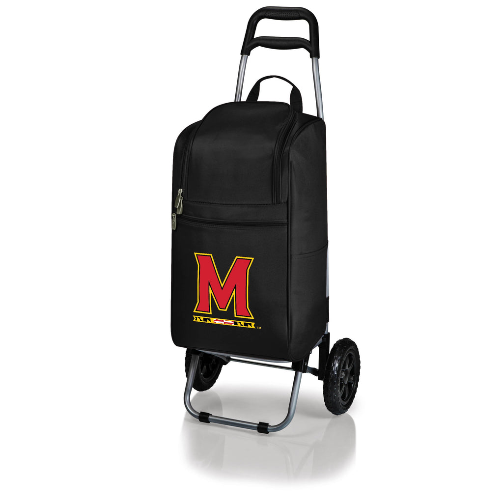 Maryland Terrapins Cart Cooler with Trolley-Black Digital Print