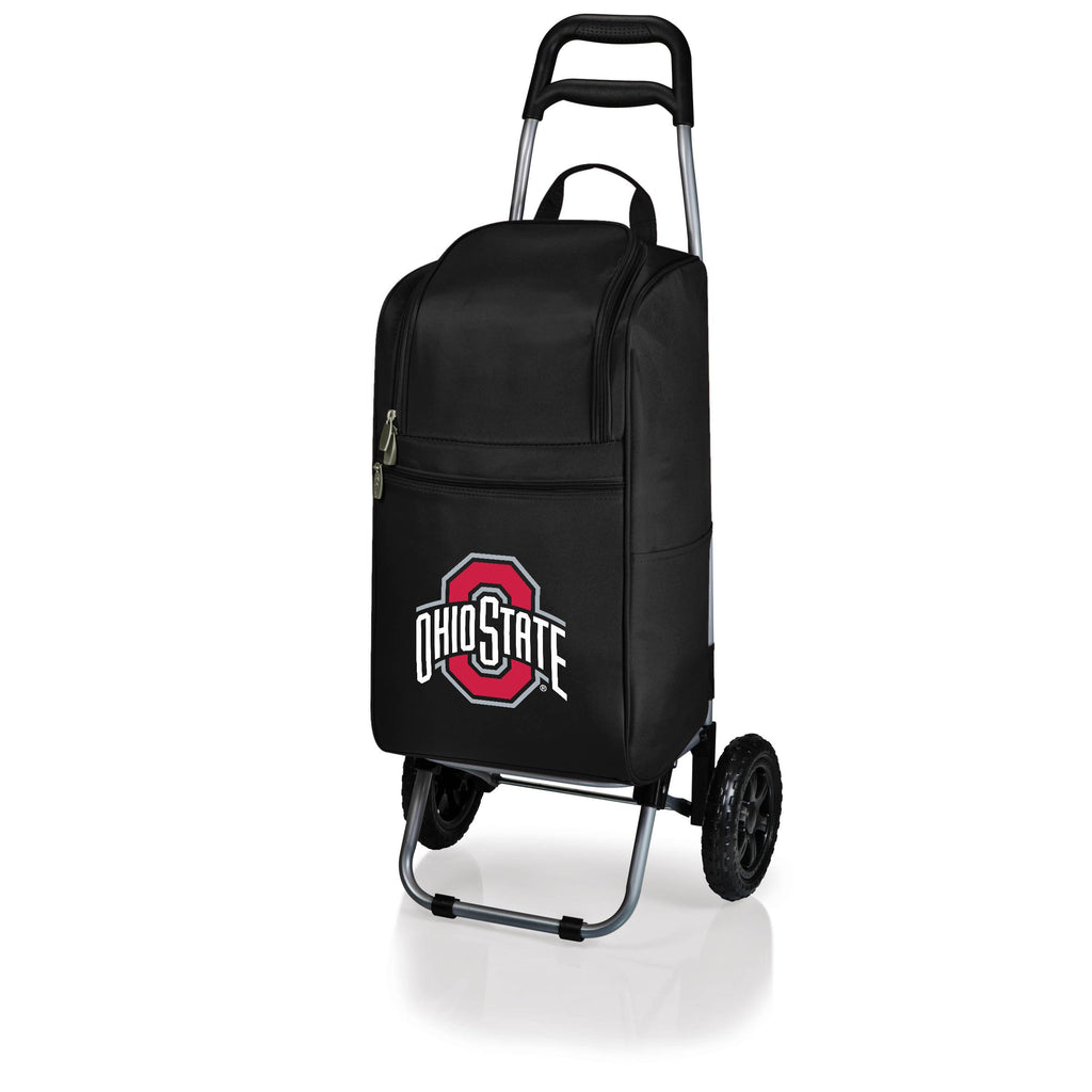 Ohio State Buckeyes Cart Cooler with Trolley-Black Digital Print
