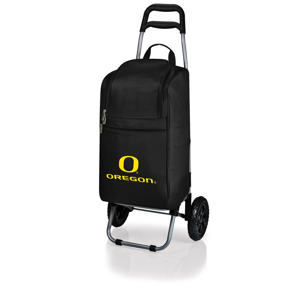 Oregon Ducks Cart Cooler with Trolley-Black Digital Print