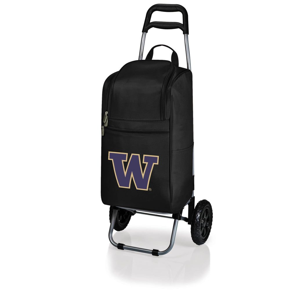 Washington Huskies Cart Cooler with Trolley-Black Digital Print