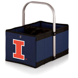 Illinois Fighting Illini 'Urban Basket' Collapsible Tote-Navy Digital Print