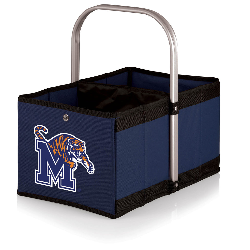 Memphis Tigers 'Urban Basket' Collapsible Tote-Navy Digital Print