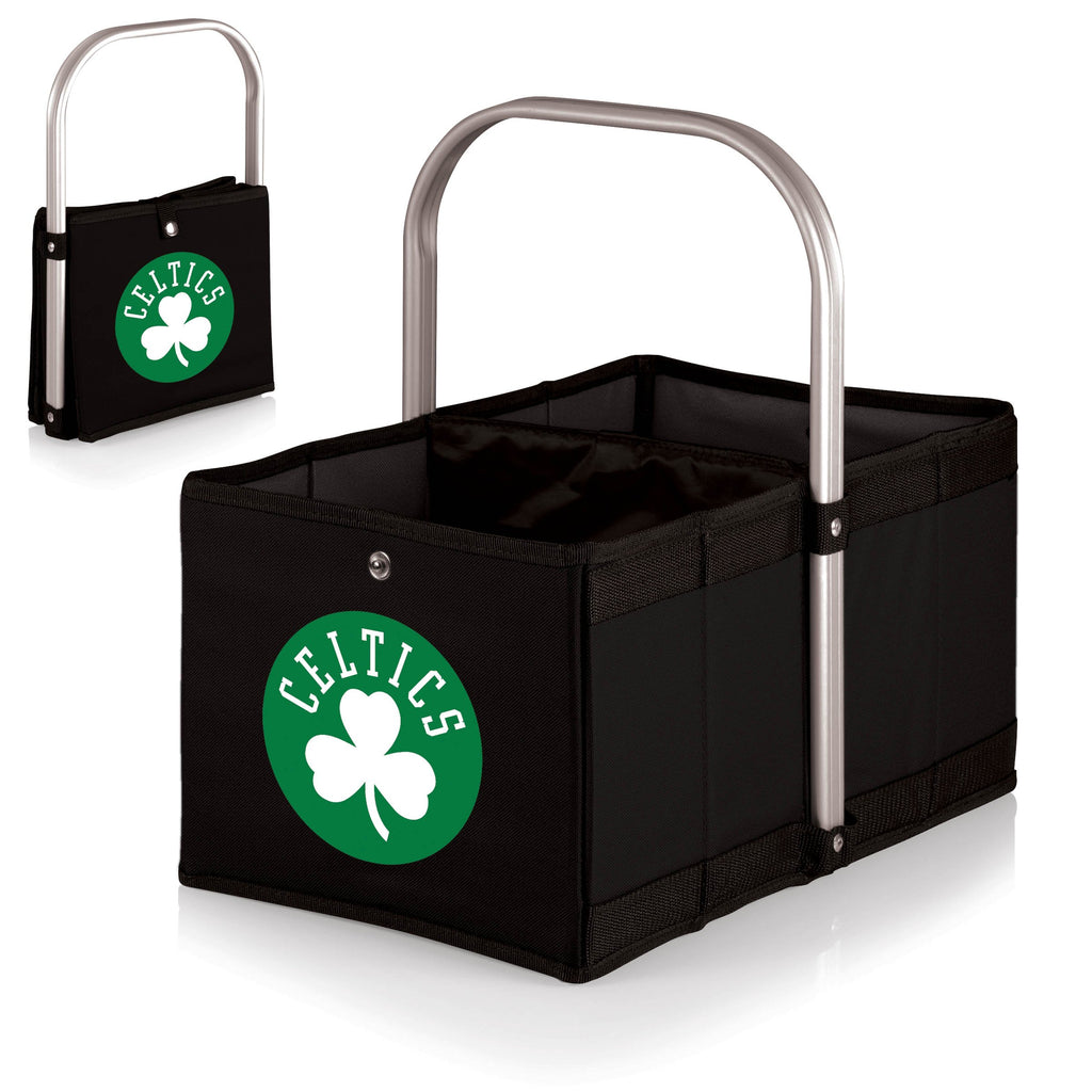 Boston Celtics 'Urban Basket' Collapsible Tote-Black Digital Print