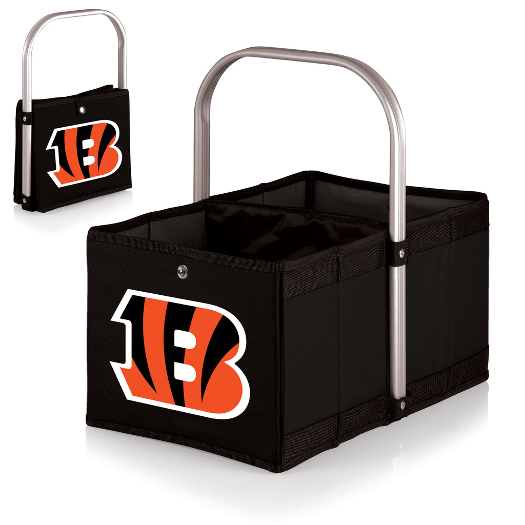Cincinnati Bengals 'Urban Basket' Collapsible Tote-Black Digital Print
