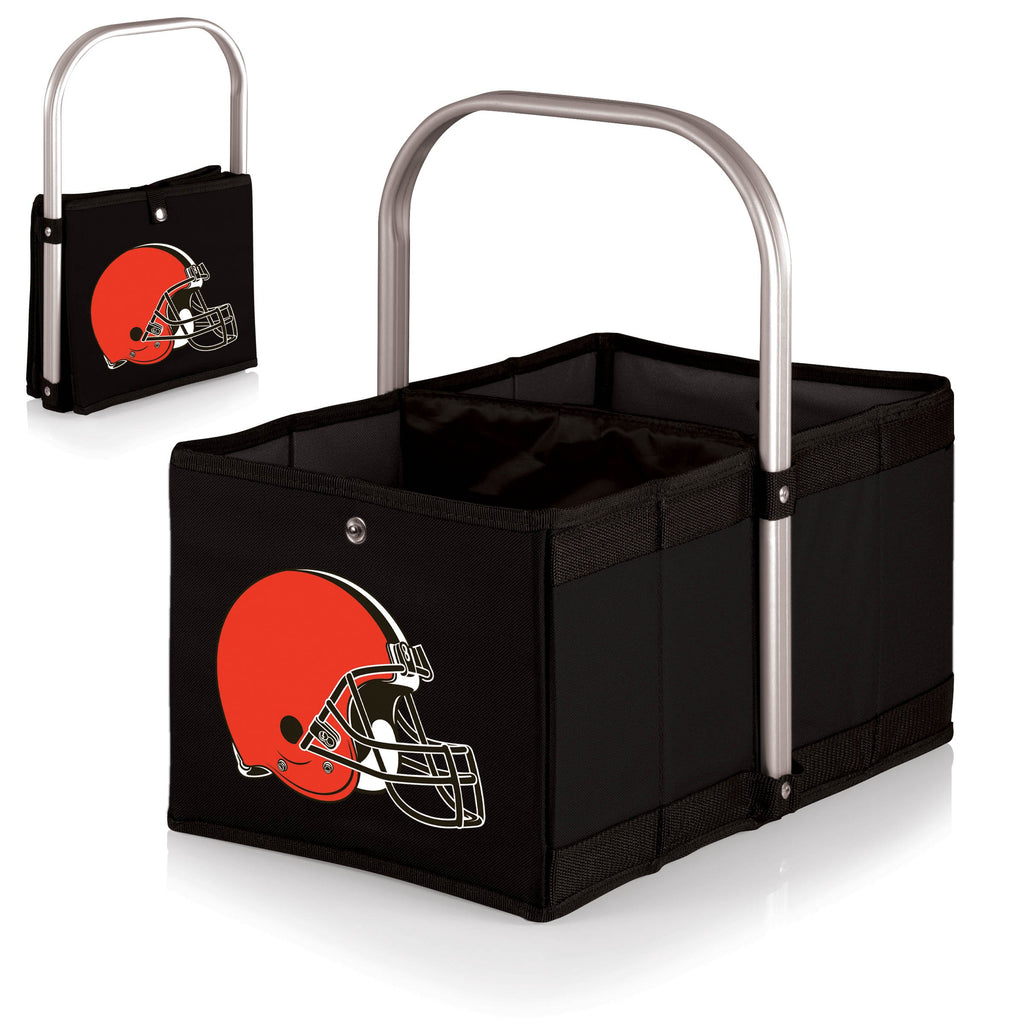 Cleveland Browns 'Urban Basket' Collapsible Tote-Black Digital Print