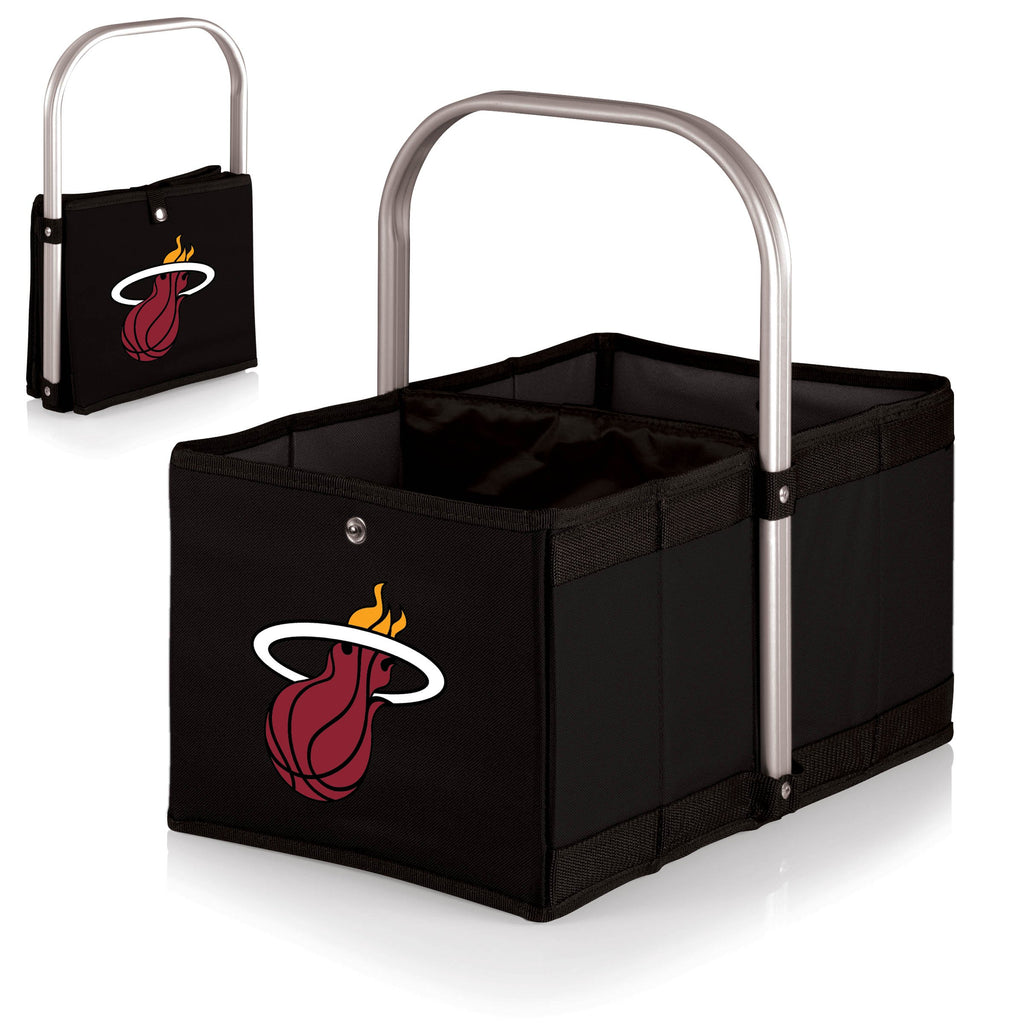 Miami Heat 'Urban Basket' Collapsible Tote-Black Digital Print
