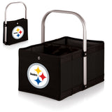 Pittsburgh Steelers 'Urban Basket' Collapsible Tote-Black Digital Print