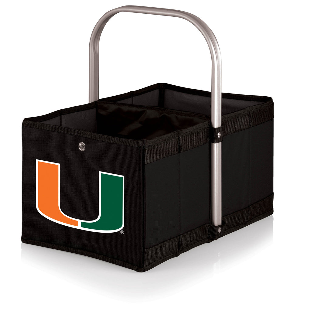 Miami Hurricanes 'Urban Basket' Collapsible Tote-Black Digital Print
