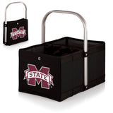 Mississippi State Bulldogs 'Urban Basket' Collapsible Tote-Black Digital Print