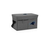 Carolina Panthers Ottoman Cooler & Seat-Grey Digital Print