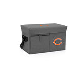 Chicago Bears Ottoman Cooler & Seat-Grey Digital Print