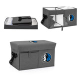 Dallas Mavericks Ottoman Cooler & Seat-Grey Digital Print