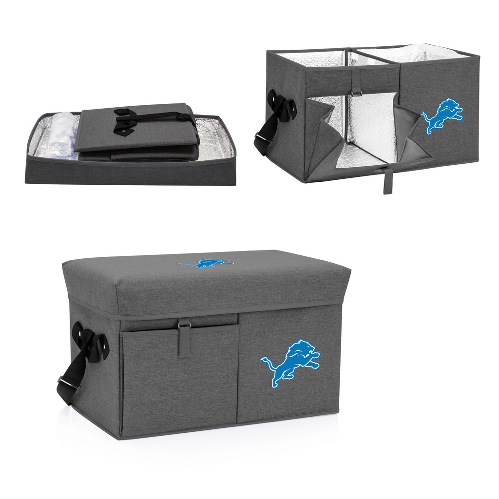 Detroit Lions Ottoman Cooler & Seat-Grey Digital Print