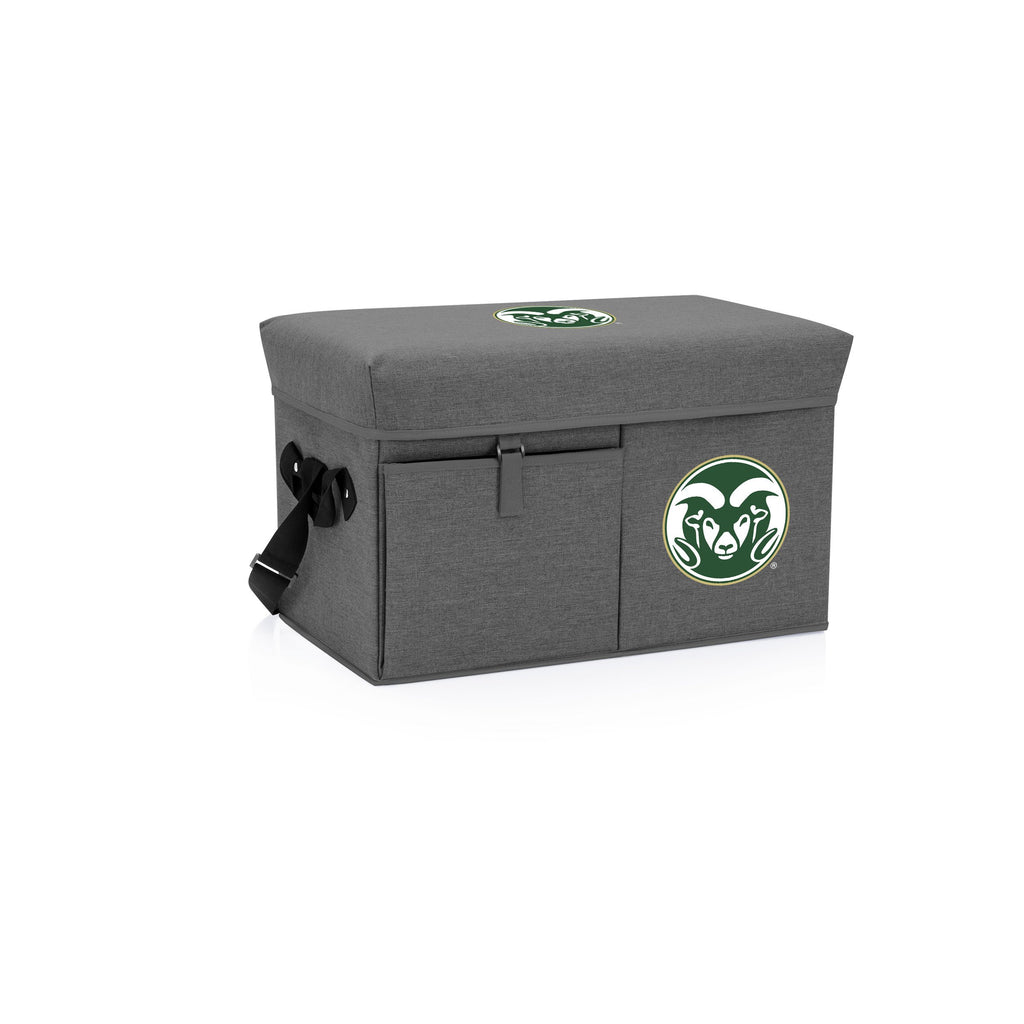 Colorado State Rams Ottoman Cooler & Seat-Grey Digital Print