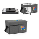 Kansas Jayhawks Ottoman Cooler & Seat-Grey Digital Print