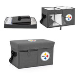 Pittsburgh Steelers Ottoman Cooler & Seat-Grey Digital Print