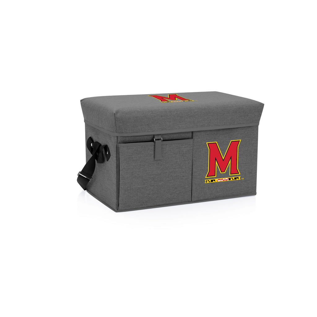 Maryland Terrapins Ottoman Cooler & Seat-Grey Digital Print