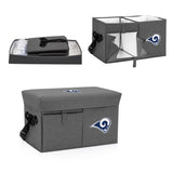 Los Angeles Rams Ottoman Cooler & Seat-Grey Digital Print
