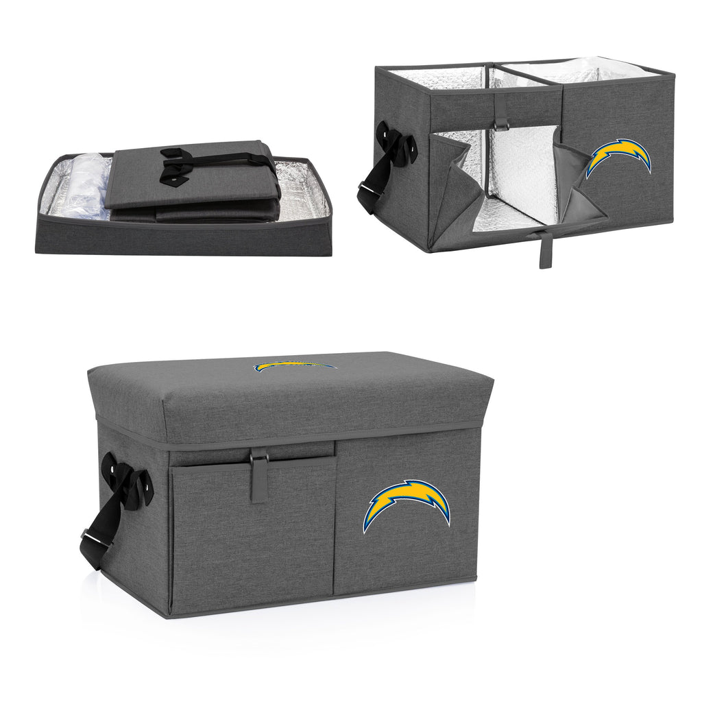 Los Angeles Chargers Ottoman Cooler & Seat-Grey Digital Print