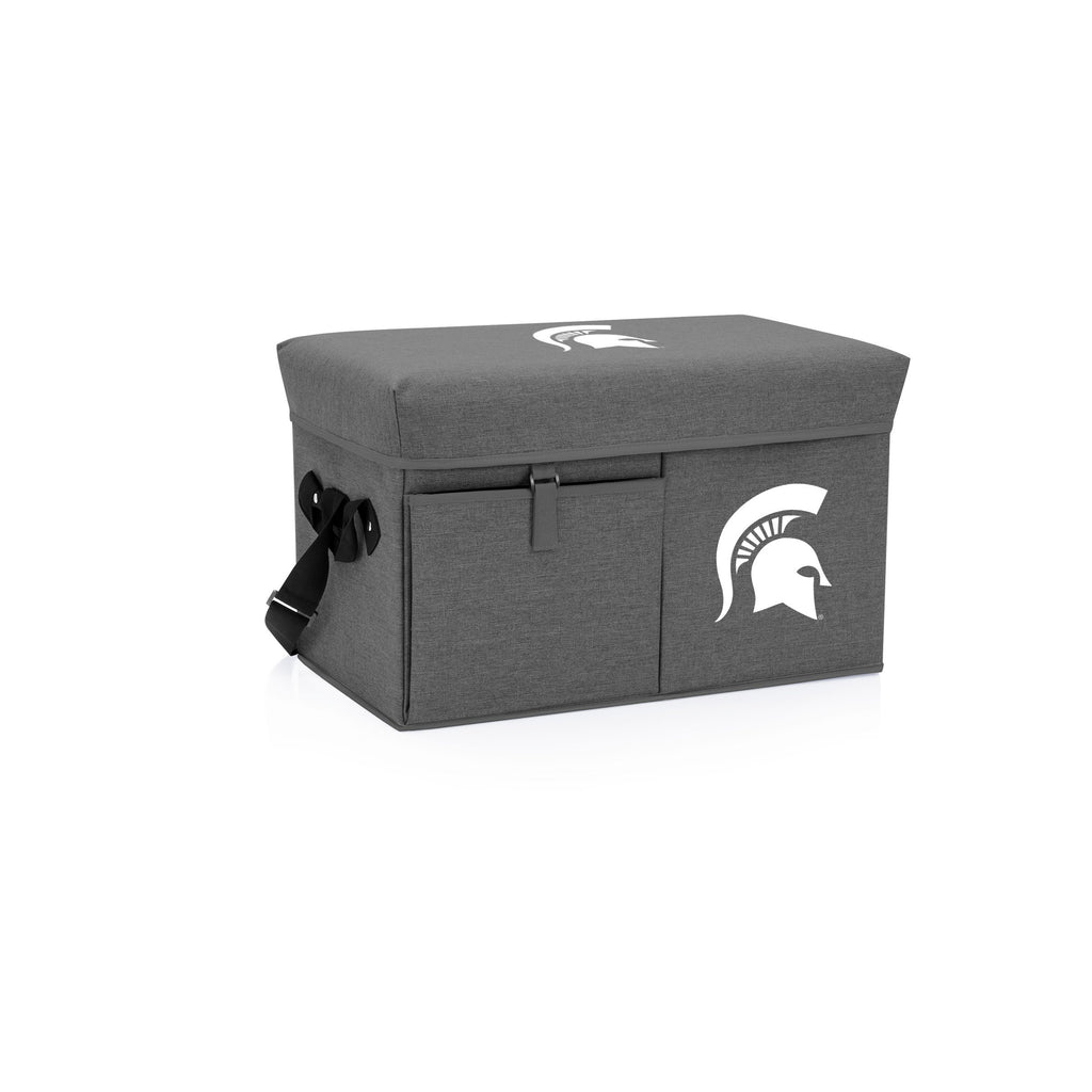Michigan State Spartans Ottoman Cooler & Seat-Grey Digital Print