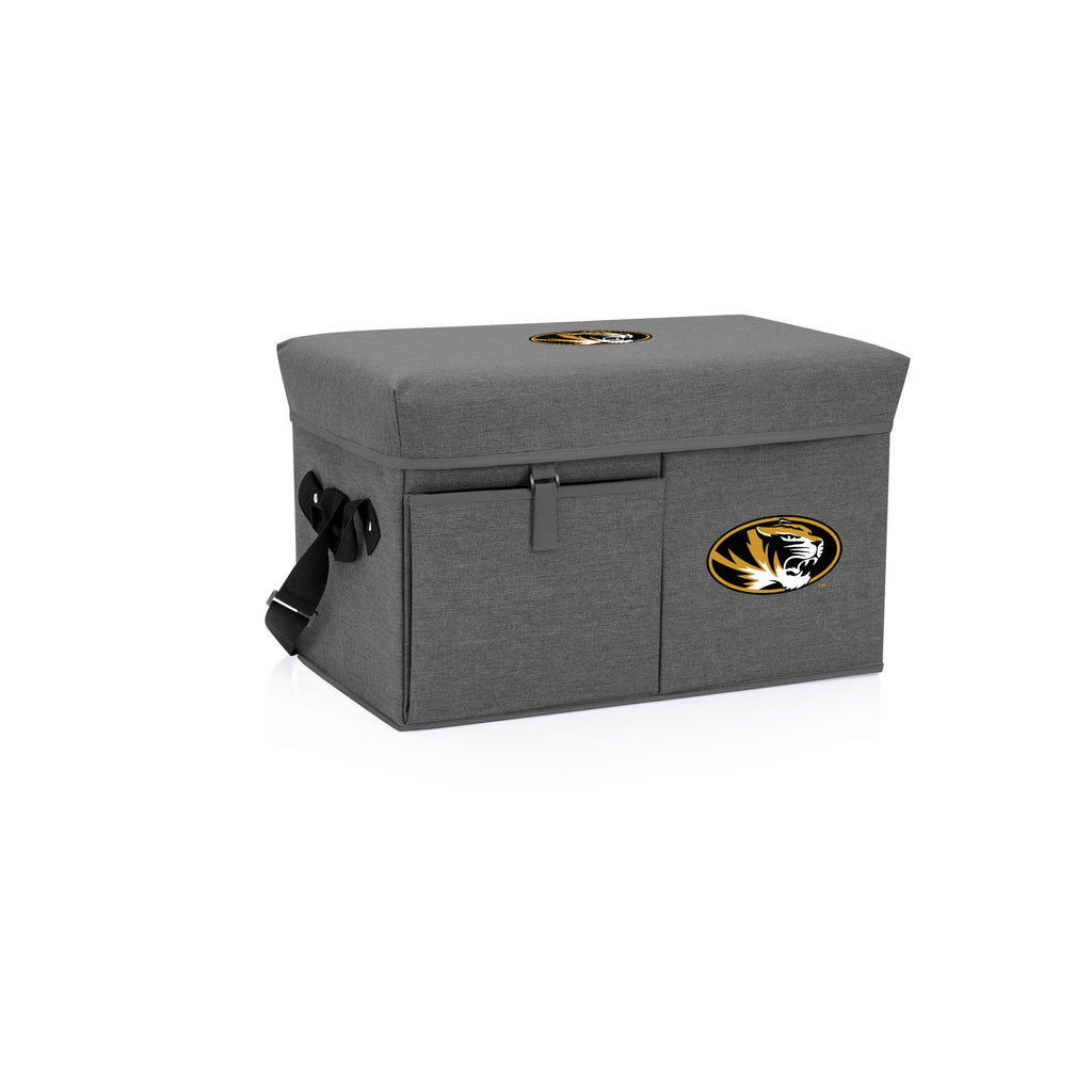 Mizzou Tigers Ottoman Cooler & Seat-Grey Digital Print