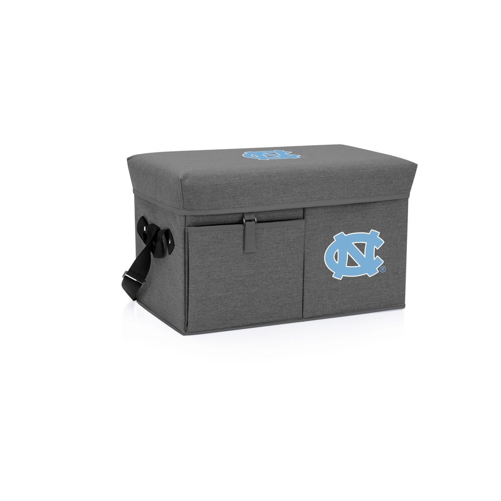 North Carolina Tar Heels Ottoman Cooler & Seat-Grey Digital Print